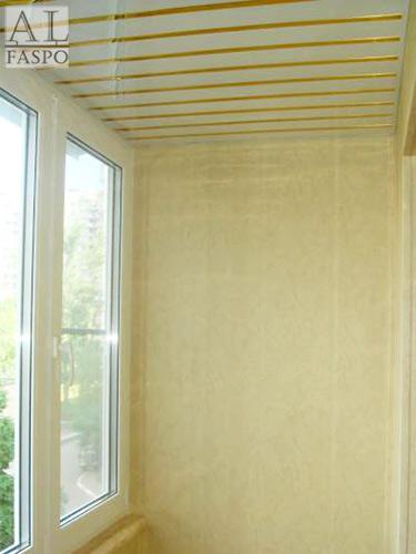Алюминиевые потолки на лоджии фото, реечные потолки на балко.